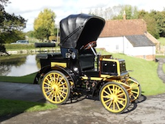 New body work on 1897 Daimler